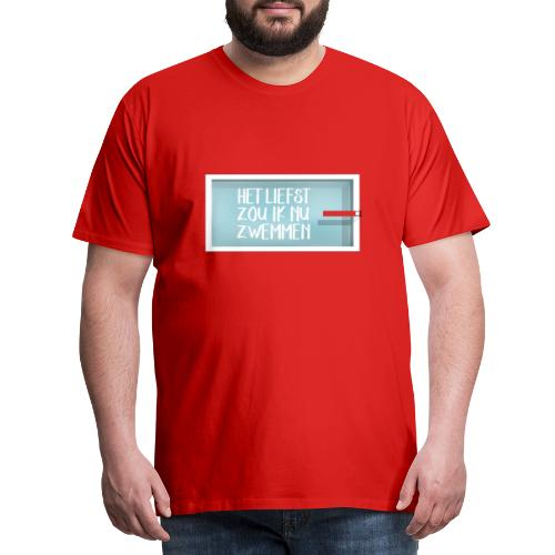 het liefst zwemmen - Mannen Premium T-shirt