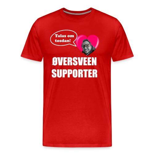 oversveen kvit - Premium T-skjorte for menn