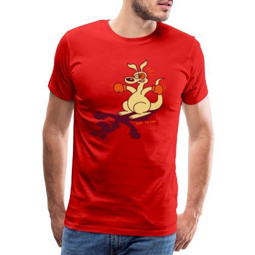 Boxing Kangaroo - Men's Premium T-Shirt