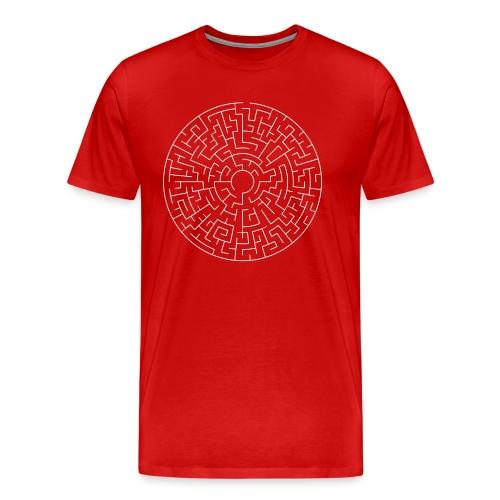 Maze Theta easy - Männer Premium T-Shirt
