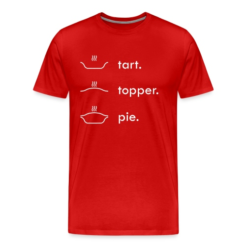 Tart Topper Pie - Men's Premium T-Shirt