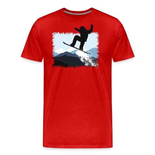 Snowboarder Action Jump   Apresski Shirt gestalten - Männer Premium T-Shirt