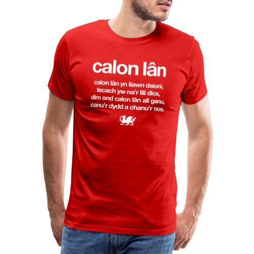 Wales rugby - Calon Lan - Men's Premium T-Shirt