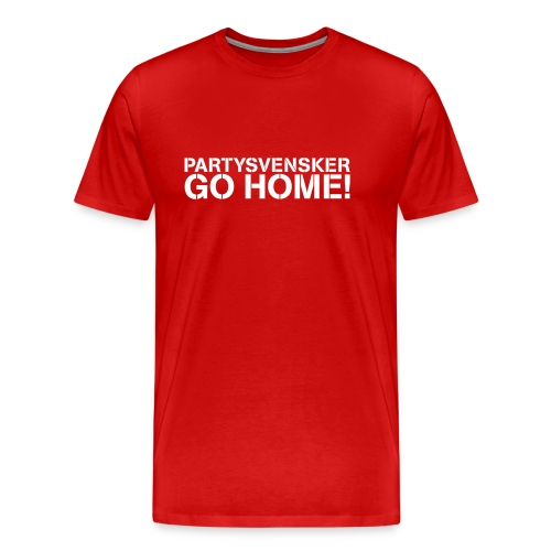 Partysvensker, go home! - Premium T-skjorte for menn