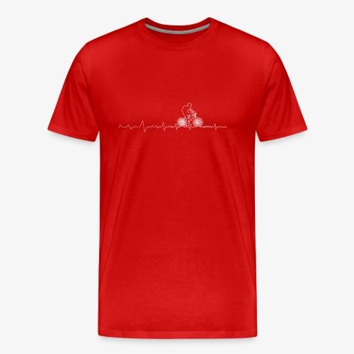 Biking Heartbeat - Men's Premium T-Shirt