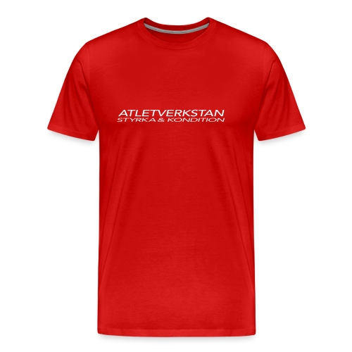 Atletverkstan logo - Premium-T-shirt herr