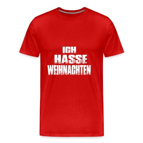 ich hasse weihnachten - Männer Premium T-Shirt