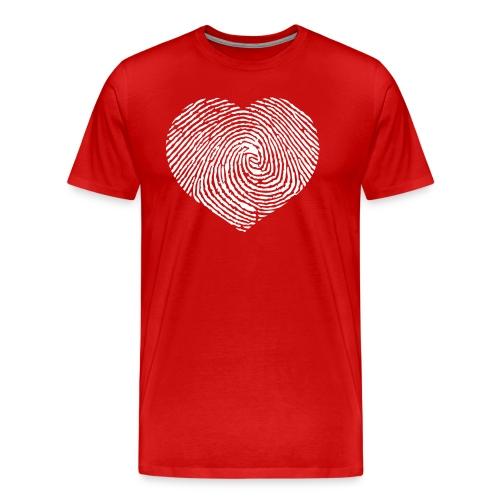 Finger Heart White - Mannen Premium T-shirt
