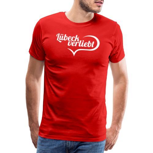 Lübeck verliebt (weiß) - Männer Premium T-Shirt