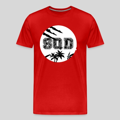 SQD tshirt logo wit - Mannen Premium T-shirt