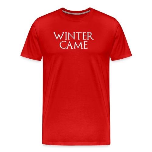 WINTERX png - Männer Premium T-Shirt