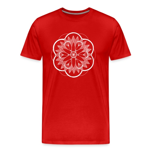 White Pond Bouquet Mandala - Men's Premium T-Shirt