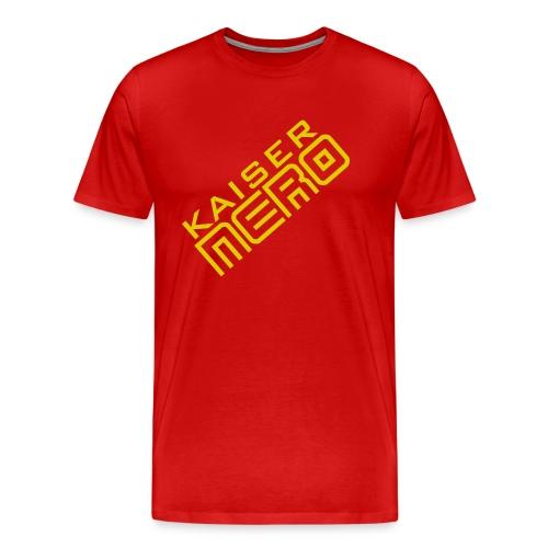 19758 2Ckaiser NERO Logo schraeg Plus - Men's Premium T-Shirt