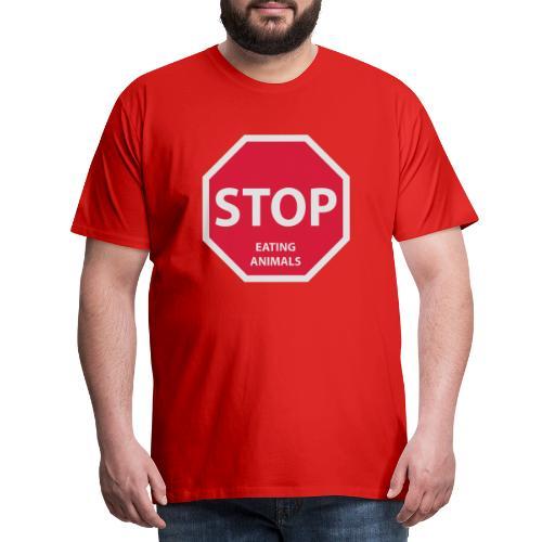 Stop-Eating-Animals - Männer Premium T-Shirt