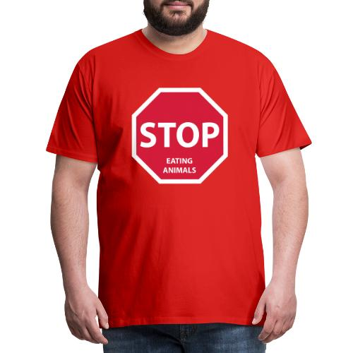 Stop-Eating-Animals - Männer Premium T-Shirt