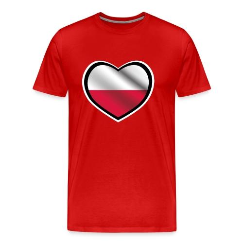 Serce Polski | Prezent I love Polska - Koszulka męska Premium