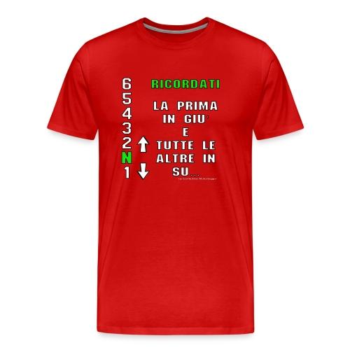 prima in giu e le altre in su gioflu bianco - Maglietta Premium da uomo