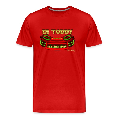 DJ TODDY 1st EDITION (Rot) Limitierte Edition - Männer Premium T-Shirt