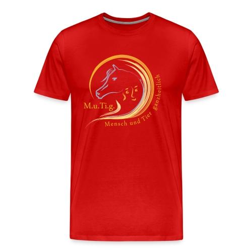 Logo Gnadenhof Mutig mit Text png - Männer Premium T-Shirt
