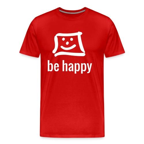 be happy by happy-pixel - Männer Premium T-Shirt
