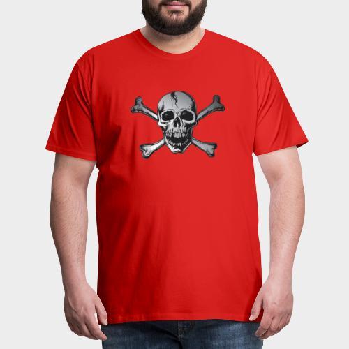 CALAVERA PIRATA PLATA - Camiseta premium hombre