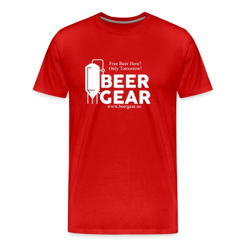 Beer Gear free Beer White - Premium T-skjorte for menn