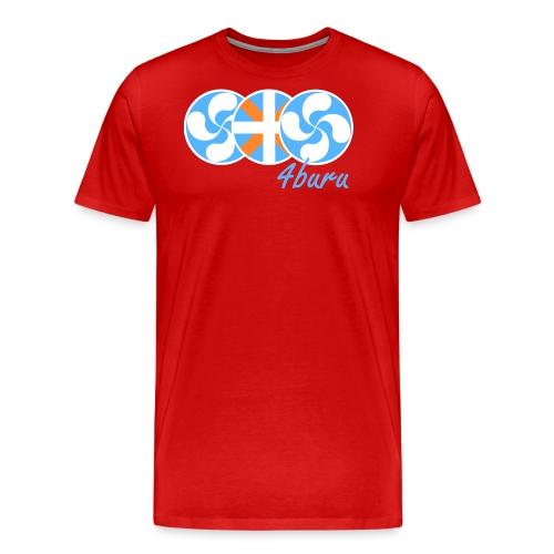 4BURU BLEU - T-shirt Premium Homme