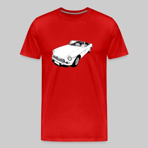 Classic British sports car - Men's Premium T-Shirt