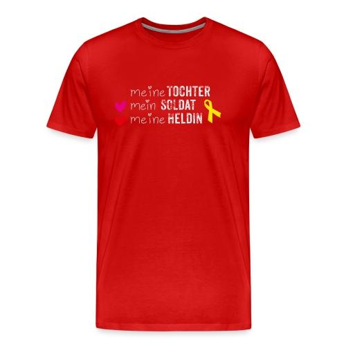 Meine Tochter Soldat Heldin weiss - Männer Premium T-Shirt