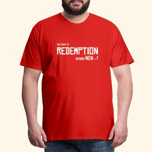 Wild West Game Text Design - Men's Premium T-Shirt