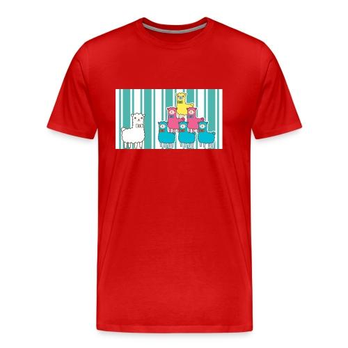 Alpaca Design - Männer Premium T-Shirt