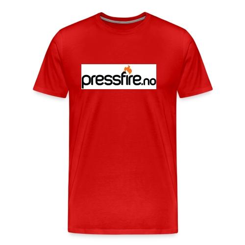 PFlogohvit jpg - Premium T-skjorte for menn