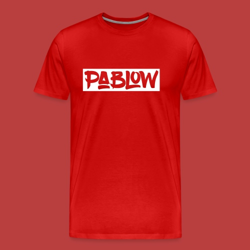 Pablow Logo boxed - Mannen Premium T-shirt