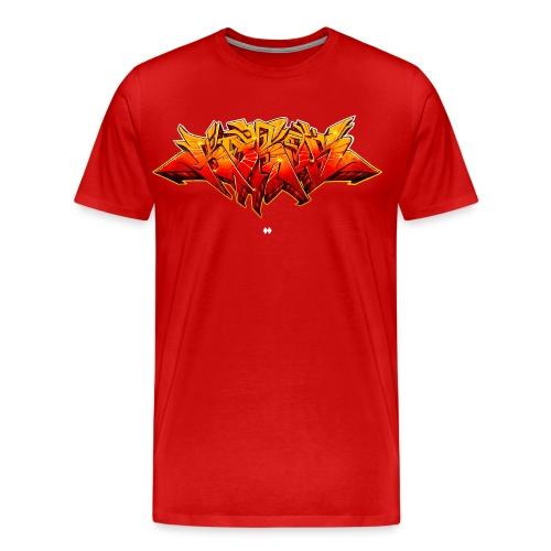 KAROS GRAFFITI SKETCH FIRE - Männer Premium T-Shirt