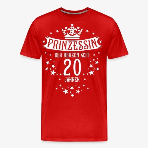 15 Prinzessin der Herzen seit 20 Jahren Geburtstag - Männer Premium T-Shirt
