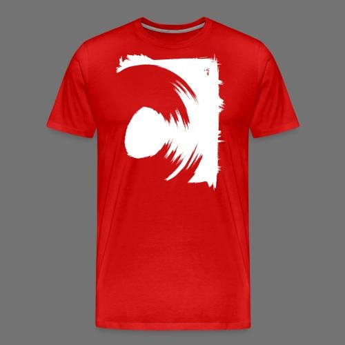 spin (valkoinen) - Miesten premium t-paita