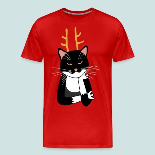 Sarcastic Christmas Cat - Men's Premium T-Shirt