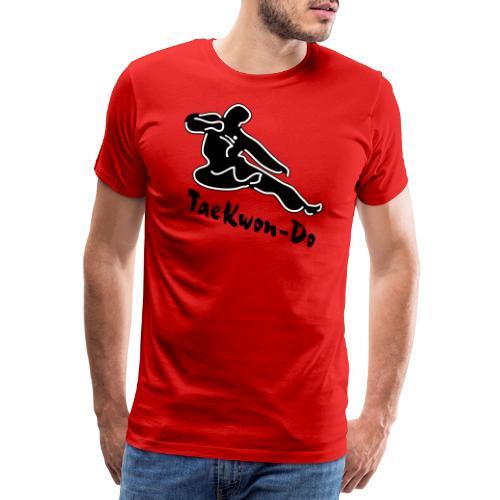 Taekwondo flying kicking man - Men's Premium T-Shirt