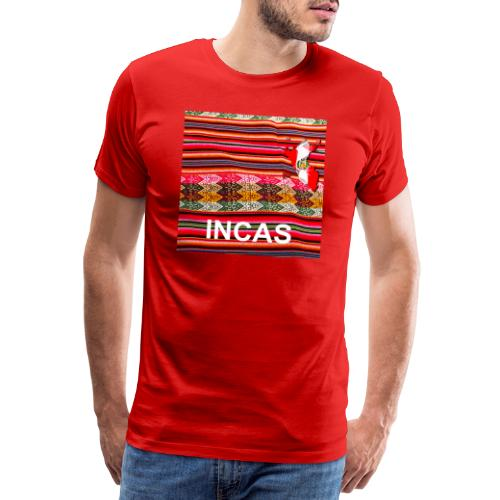 Telar inca Mapa del Peru - T-shirt Premium Homme
