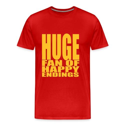 Huge fan of happy endings - Mannen Premium T-shirt