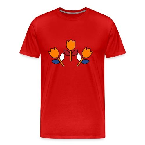 bewares emblem tulips - Mannen Premium T-shirt