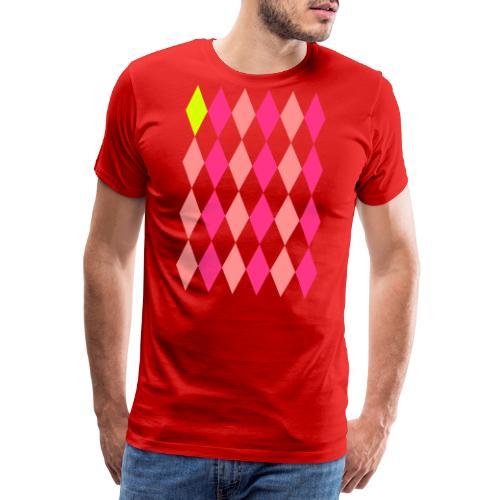 Losange Jaune - Mannen Premium T-shirt
