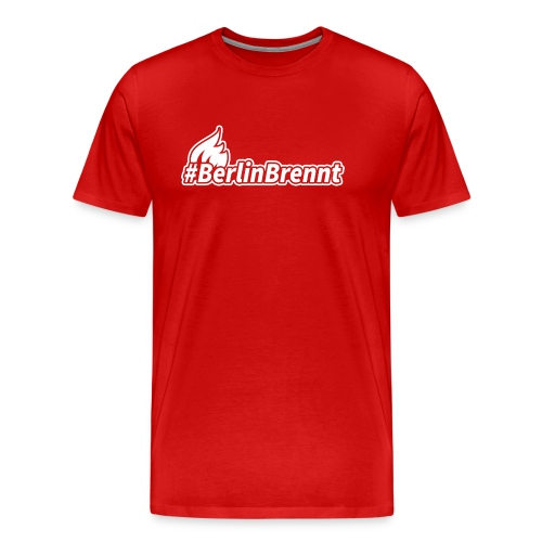 berlinbrennt 320mm white png - Männer Premium T-Shirt