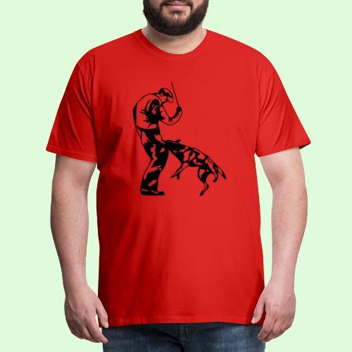 Berger Belge Malinois, l'ombre mordante - T-shirt Premium Homme