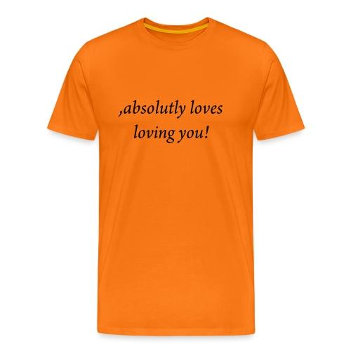 absolutly loves loving - Miesten premium t-paita