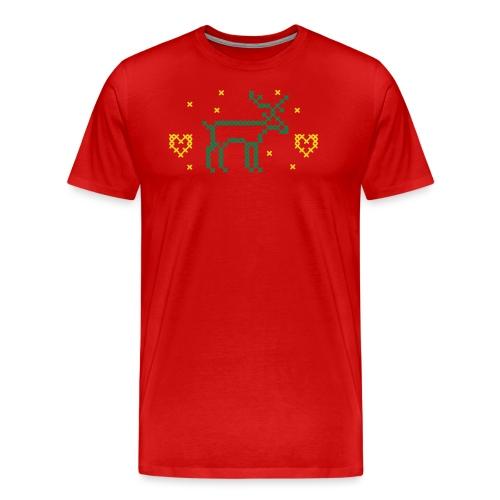 REN OCH HJÄRTAN, korsstygn - Premium-T-shirt herr