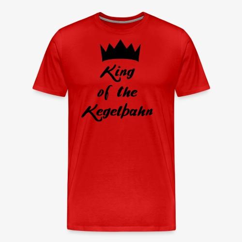 King of the Kegelbahn - Männer Premium T-Shirt