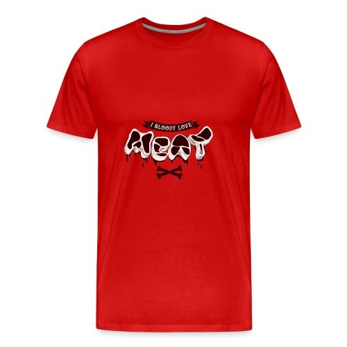 I Bloody Love Meat - Mannen Premium T-shirt