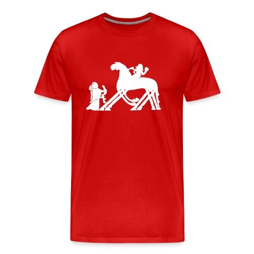 Til Valhall - Premium T-skjorte for menn