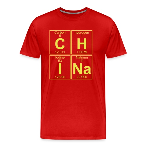 C-H-I-Na (china) - Full - Men's Premium T-Shirt